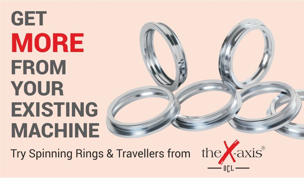 The X-axis Rings & Travellers Improves Yarn Spinning Efficiency across every Parameter